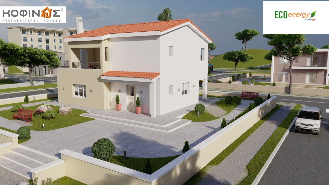 2-story house D-131a, total surface of 131.23 m² (Version A) and 142.65 m² (Version B) ,roofed areas 63.69 m²,balconies 54.11 m²(Version A) and 42.68 m²(Version B)1