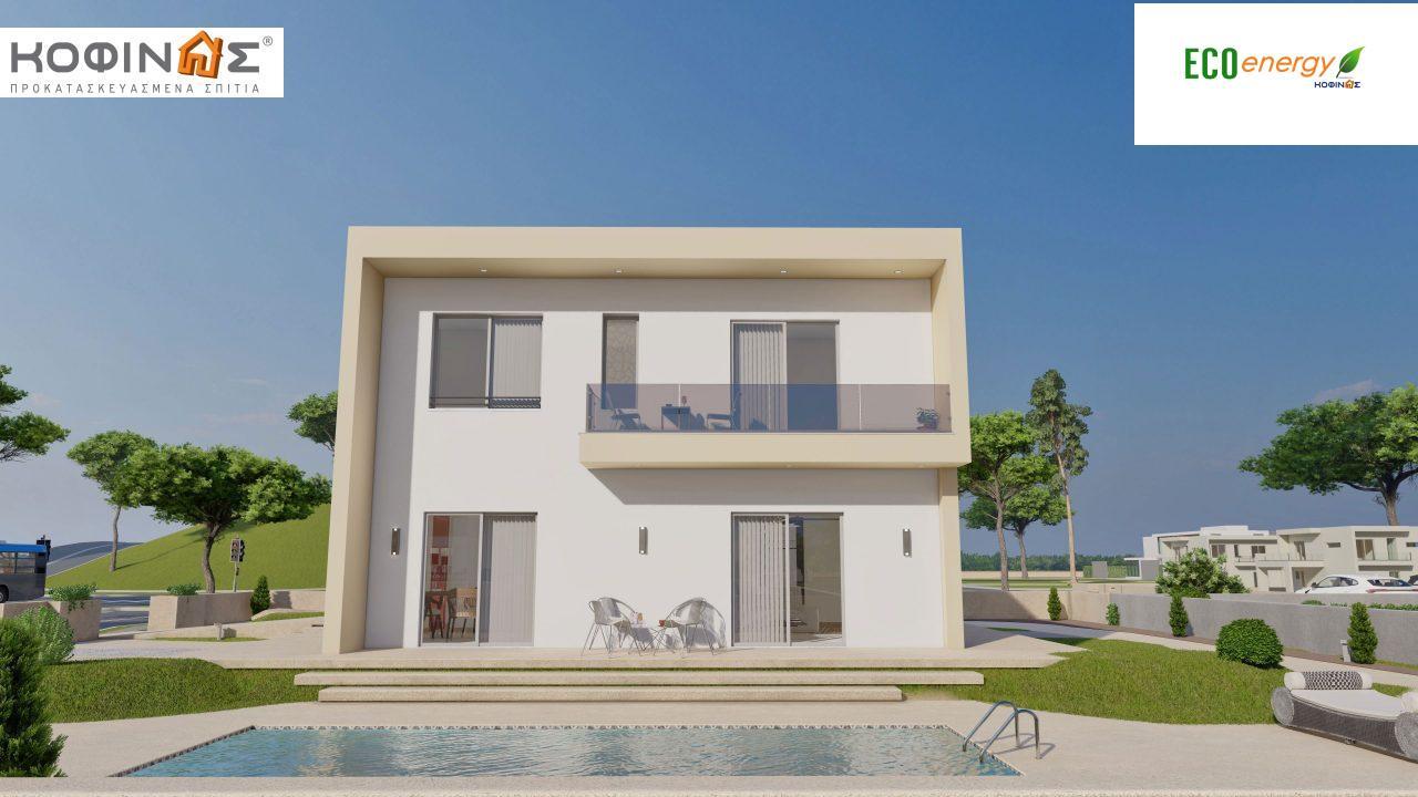 Διώροφη Κατοικία D-164, συνολικής επιφάνειας 164,94 τ.μ., +Γκαράζ 20.82 m²(=185.76 m²), συνολική επιφάνεια στεγασμένων χώρων 32,38 τ.μ., μπαλκόνια 32,27 τ.μ.2