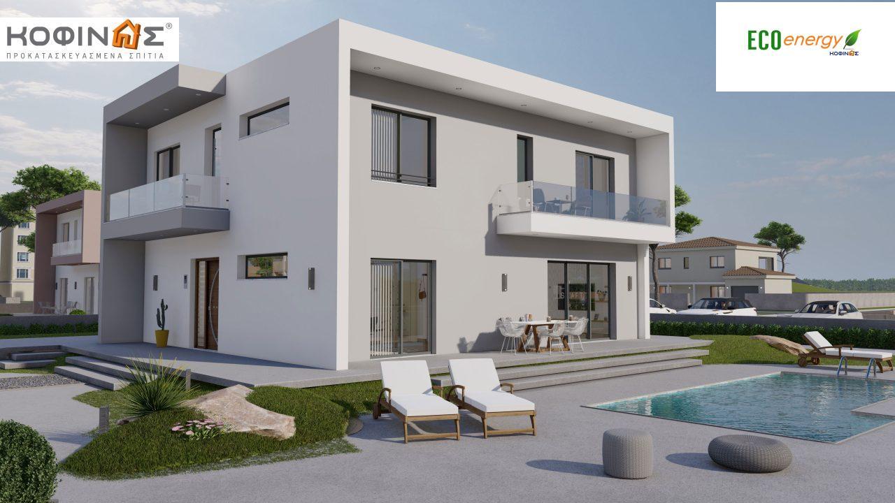 Διώροφη Κατοικία D-200, συνολικής επιφάνειας 200.08 τ.μ. ,+Γκαράζ 20.82 m²(=220.90 m²) συνολική επιφάνεια στεγασμένων χώρων 34.40 τ.μ., μπαλκόνια 32.27 τ.μ. featured image