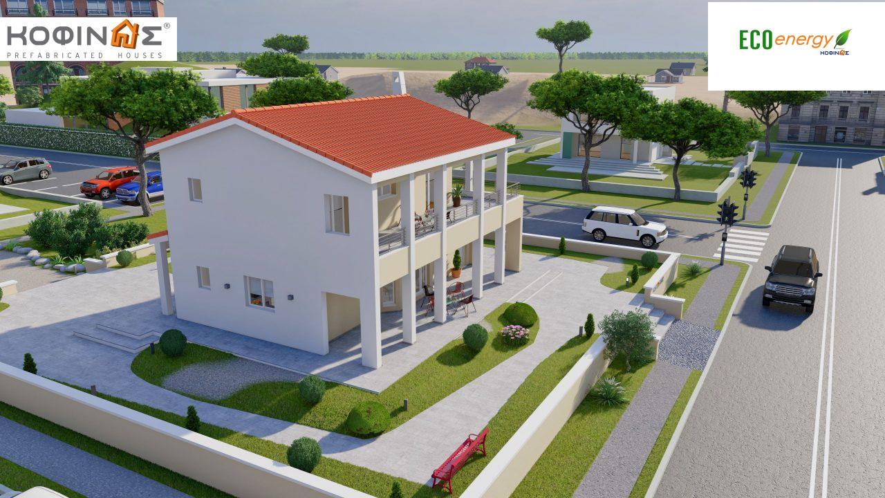 2-story house D-131a, total surface of 131.23 m² (Version A) and 142.65 m² (Version B) ,roofed areas 63.69 m²,balconies 54.11 m²(Version A) and 42.68 m²(Version B)3