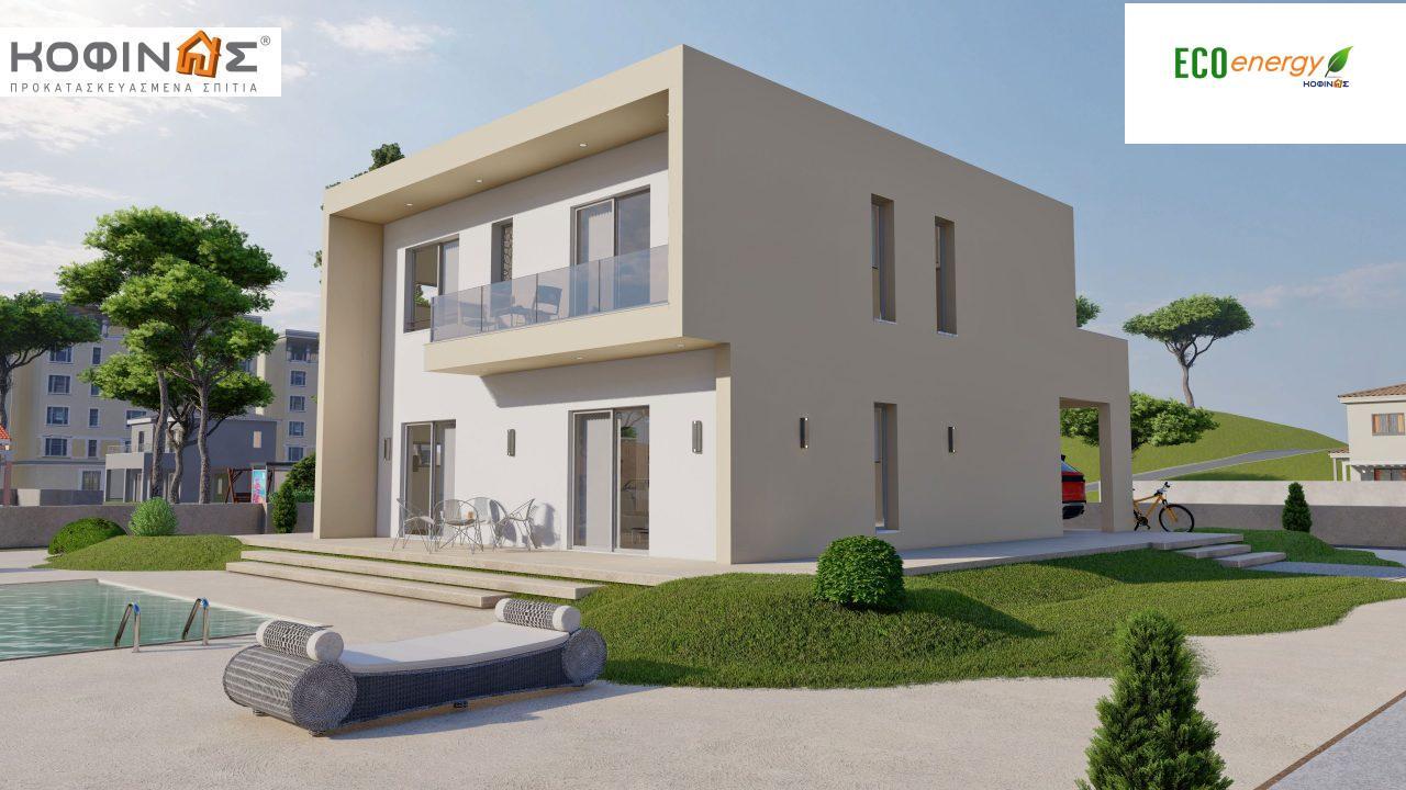Διώροφη Κατοικία D-164, συνολικής επιφάνειας 164,94 τ.μ., +Γκαράζ 20.82 m²(=185.76 m²), συνολική επιφάνεια στεγασμένων χώρων 32,38 τ.μ., μπαλκόνια 32,27 τ.μ.3