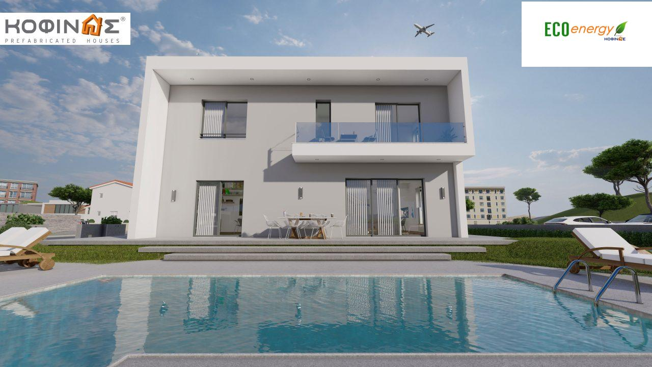 2-story house D-200, total surface of 200,08 m²,+Garage 20.82 m²(=220.90 m²),roofed areas 34.40 m²,balconies 32.27 m²3