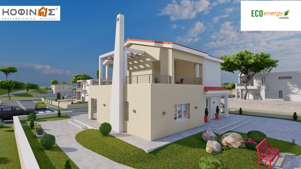 2-story house D-131a, total surface of 131.23 m² (Version A) and 142.65 m² (Version B) ,roofed areas 63.69 m²,balconies 54.11 m²(Version A) and 42.68 m²(Version B)4