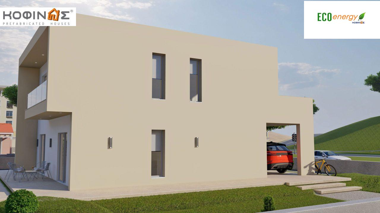 2-story house D-164, total surface of 164.94 m² ,+Garage 20.82 m²(=185.76 m²), roofed areas 32.38 m²,balconies 32.27 m²4