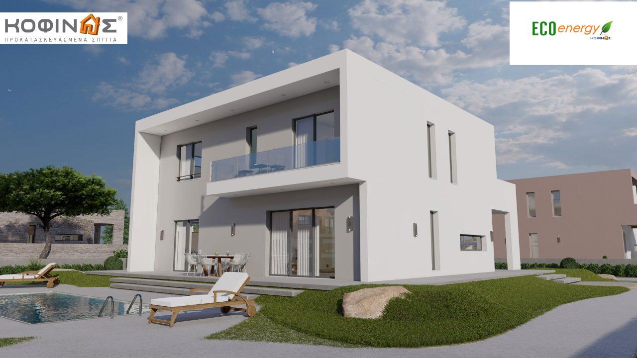 Διώροφη Κατοικία D-200, συνολικής επιφάνειας 200.08 τ.μ. ,+Γκαράζ 20.82 m²(=220.90 m²) συνολική επιφάνεια στεγασμένων χώρων 34.40 τ.μ., μπαλκόνια 32.27 τ.μ.4