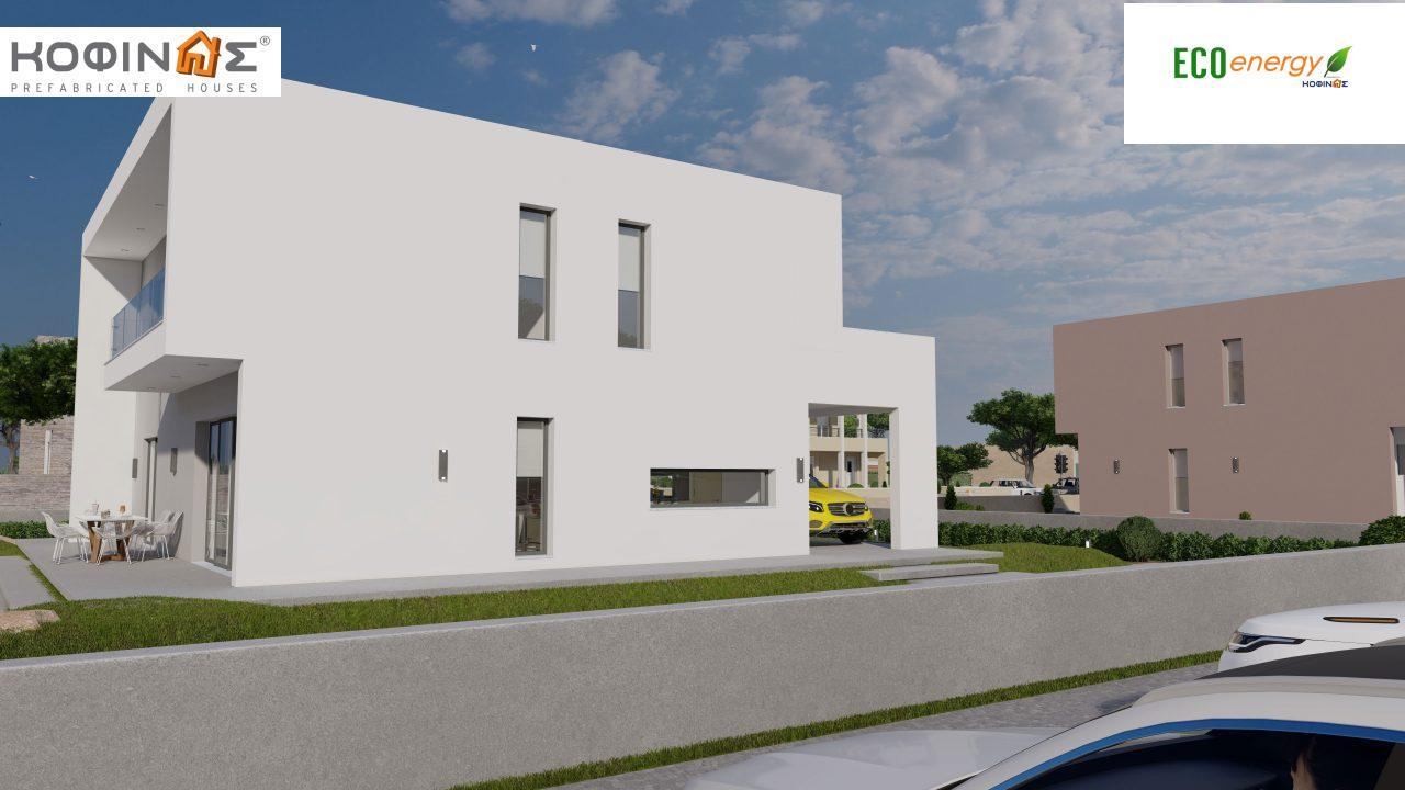 2-story house D-200, total surface of 200,08 m²,+Garage 20.82 m²(=220.90 m²),roofed areas 34.40 m²,balconies 32.27 m²5