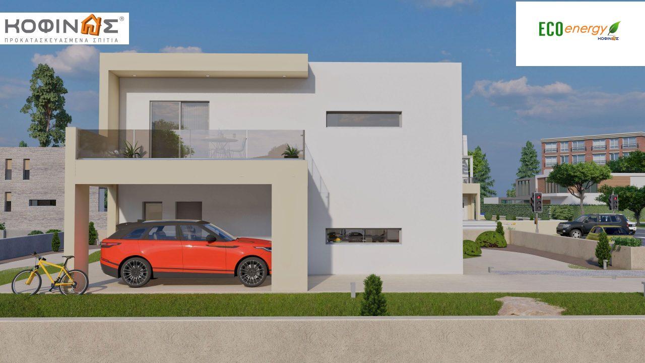 Διώροφη Κατοικία D-164, συνολικής επιφάνειας 164,94 τ.μ., +Γκαράζ 20.82 m²(=185.76 m²), συνολική επιφάνεια στεγασμένων χώρων 32,38 τ.μ., μπαλκόνια 32,27 τ.μ.5