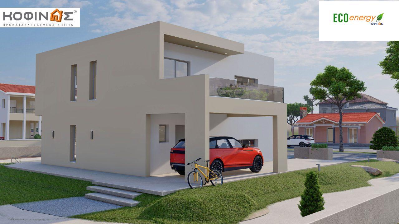 Διώροφη Κατοικία D-164, συνολικής επιφάνειας 164,94 τ.μ., +Γκαράζ 20.82 m²(=185.76 m²), συνολική επιφάνεια στεγασμένων χώρων 32,38 τ.μ., μπαλκόνια 32,27 τ.μ.6