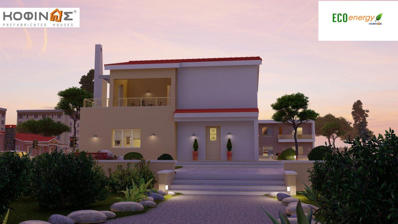 2-story house D-131a, total surface of 131.23 m² (Version A) and 142.65 m² (Version B) ,roofed areas 63.69 m²,balconies 54.11 m²(Version A) and 42.68 m²(Version B)7