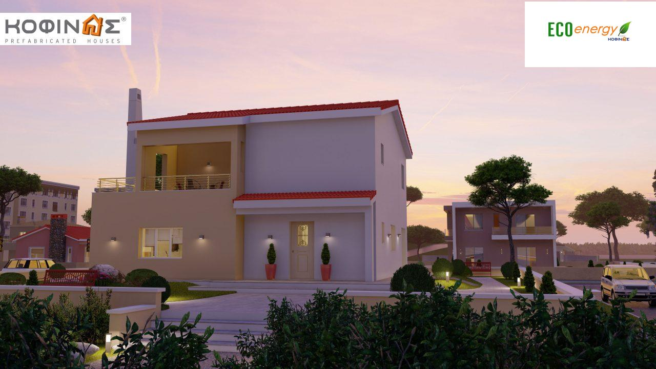 2-story house D-131a, total surface of 131.23 m² (Version A) and 142.65 m² (Version B) ,roofed areas 63.69 m²,balconies 54.11 m²(Version A) and 42.68 m²(Version B)6