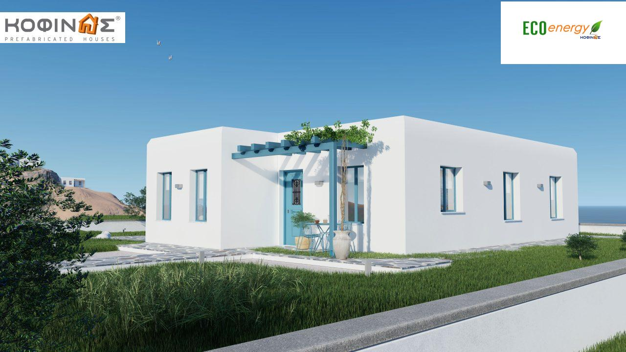 1-story house I-93, total surface of 93.12 m², roofed areas 21.03 m²3