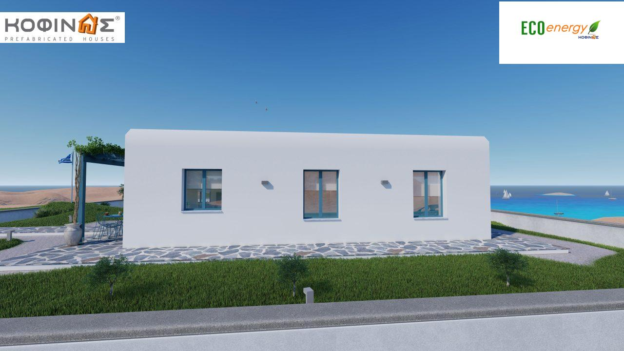1-story house I-93, total surface of 93.12 m², roofed areas 21.03 m²4