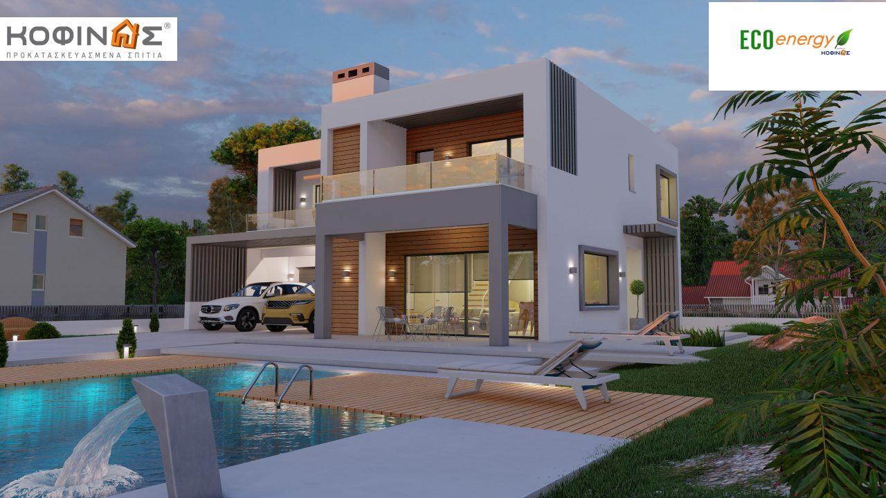Διώροφη κατοικία D 183Α, συνολικής επιφάνειας 183,77 τ.μ.,+Γκαράζ 41,98 m²(=225,75 m²), στεγασμένοι χώροι 64,39 τ.μ., και μπαλκόνια 32.9 τ.μ. featured image