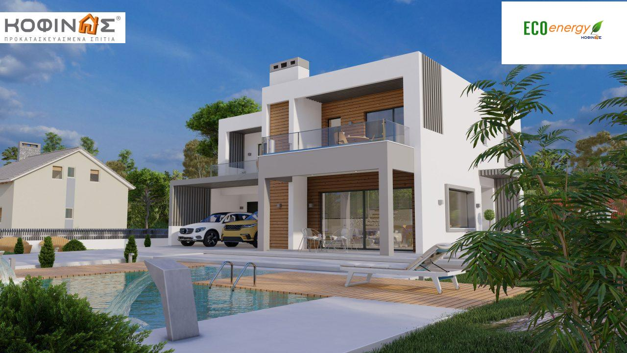Διώροφη κατοικία D 183Α, συνολικής επιφάνειας 183,77 τ.μ.,+Γκαράζ 41,98 m²(=225,75 m²), στεγασμένοι χώροι 64,39 τ.μ., και μπαλκόνια 32.9 τ.μ.0