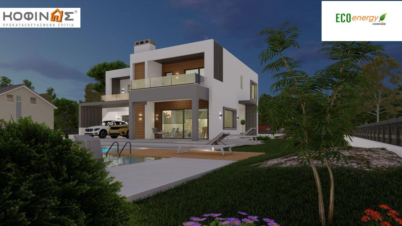 Διώροφη κατοικία D 183Α, συνολικής επιφάνειας 183,77 τ.μ.,+Γκαράζ 41,98 m²(=225,75 m²), στεγασμένοι χώροι 64,39 τ.μ., και μπαλκόνια 32.9 τ.μ.8