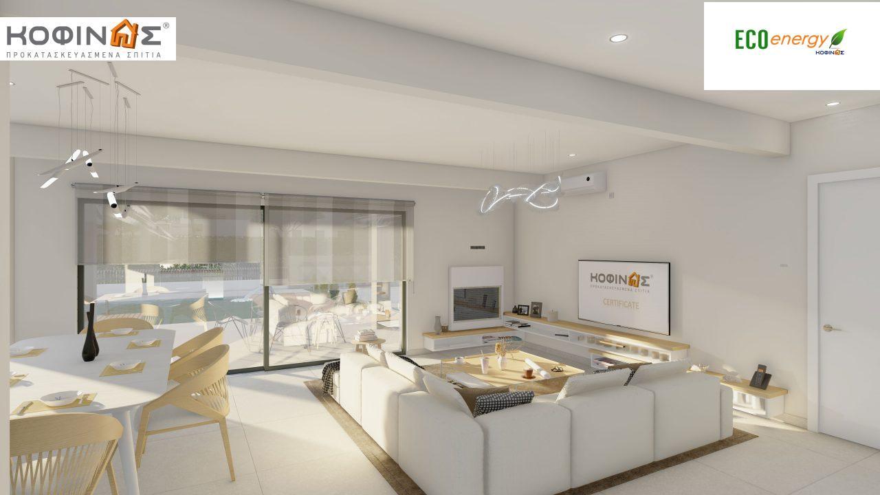 Διώροφη κατοικία D 183Α, συνολικής επιφάνειας 183,77 τ.μ.,+Γκαράζ 41,98 m²(=225,75 m²), στεγασμένοι χώροι 64,39 τ.μ., και μπαλκόνια 32.9 τ.μ.11