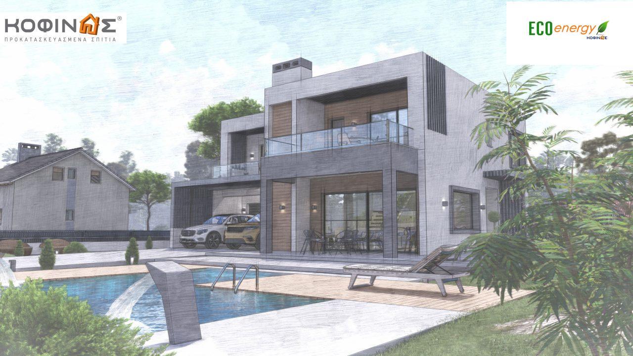 Διώροφη κατοικία D 183Α, συνολικής επιφάνειας 183,77 τ.μ.,+Γκαράζ 41,98 m²(=225,75 m²), στεγασμένοι χώροι 64,39 τ.μ., και μπαλκόνια 32.9 τ.μ.10
