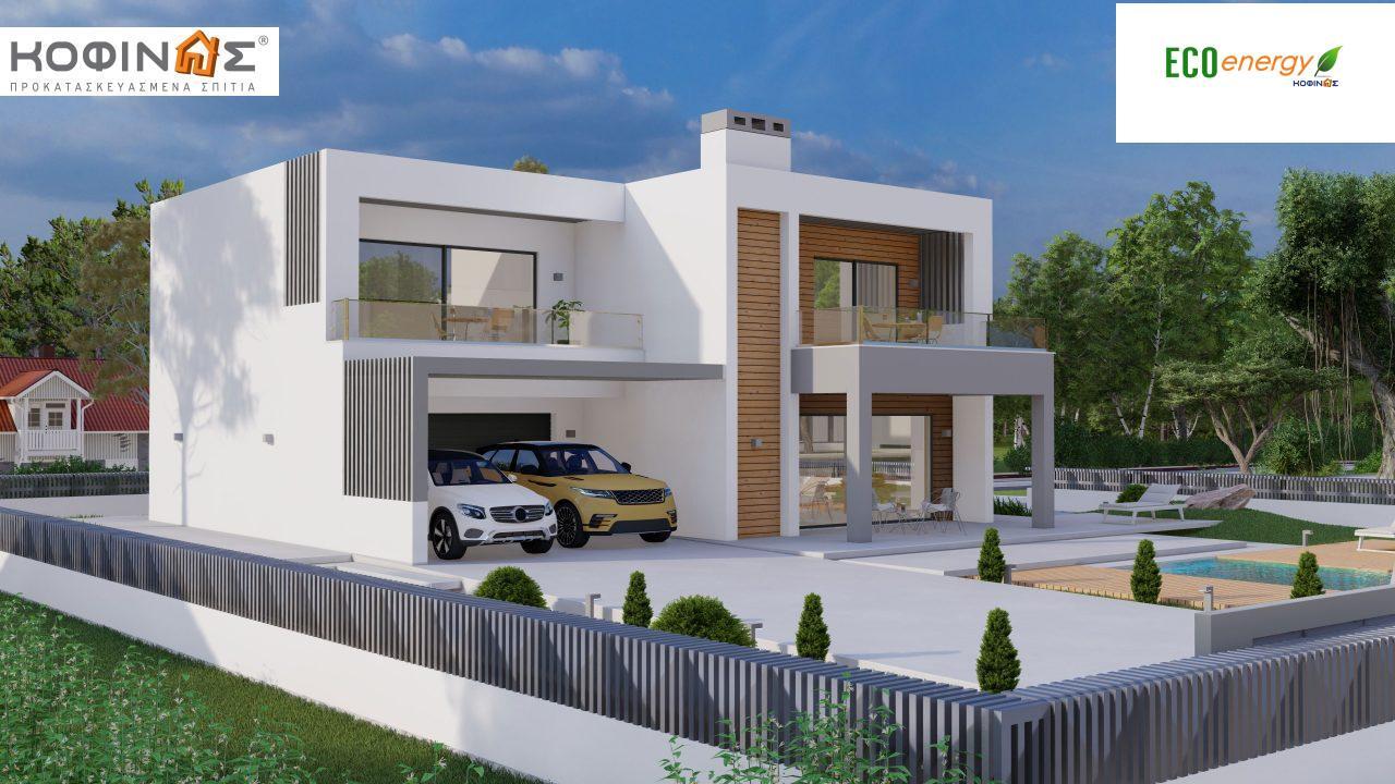 Διώροφη κατοικία D 183Α, συνολικής επιφάνειας 183,77 τ.μ.,+Γκαράζ 41,98 m²(=225,75 m²), στεγασμένοι χώροι 64,39 τ.μ., και μπαλκόνια 32.9 τ.μ.1