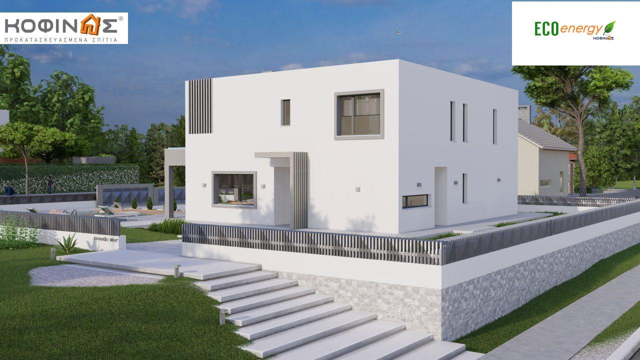 Διώροφη κατοικία D 183Α, συνολικής επιφάνειας 183,77 τ.μ.,+Γκαράζ 41,98 m²(=225,75 m²), στεγασμένοι χώροι 64,39 τ.μ., και μπαλκόνια 32.9 τ.μ.2