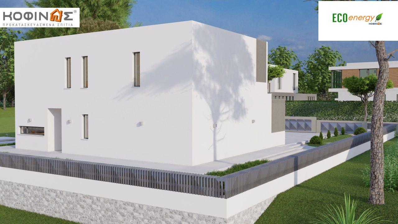 Διώροφη κατοικία D 183Α, συνολικής επιφάνειας 183,77 τ.μ.,+Γκαράζ 41,98 m²(=225,75 m²), στεγασμένοι χώροι 64,39 τ.μ., και μπαλκόνια 32.9 τ.μ.3