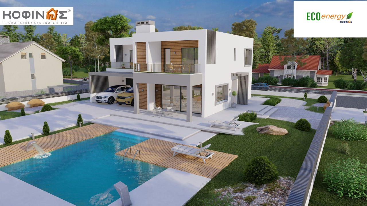 Διώροφη κατοικία D 183Α, συνολικής επιφάνειας 183,77 τ.μ.,+Γκαράζ 41,98 m²(=225,75 m²), στεγασμένοι χώροι 64,39 τ.μ., και μπαλκόνια 32.9 τ.μ.6