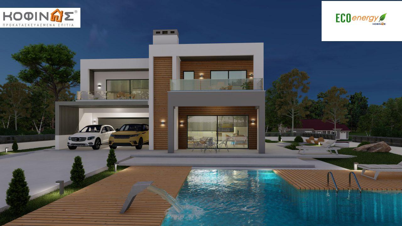 Διώροφη κατοικία D 183Α, συνολικής επιφάνειας 183,77 τ.μ.,+Γκαράζ 41,98 m²(=225,75 m²), στεγασμένοι χώροι 64,39 τ.μ., και μπαλκόνια 32.9 τ.μ.7