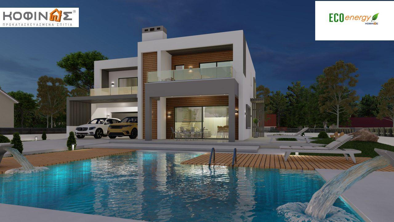 Διώροφη κατοικία D 183Α, συνολικής επιφάνειας 183,77 τ.μ.,+Γκαράζ 41,98 m²(=225,75 m²), στεγασμένοι χώροι 64,39 τ.μ., και μπαλκόνια 32.9 τ.μ.9
