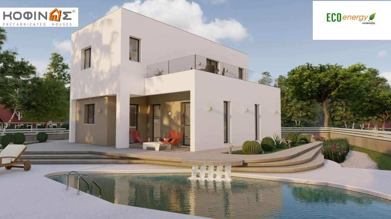 2-story house D-129A, total surface of 129,45 m²,roofed areas 13.39 m²,balconies 32.15 m² featured image
