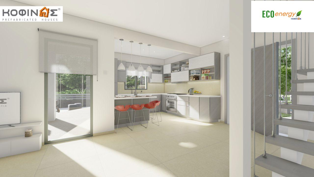 2-story house D-129A, total surface of 129,45 m²,roofed areas 13.39 m²,balconies 32.15 m²7