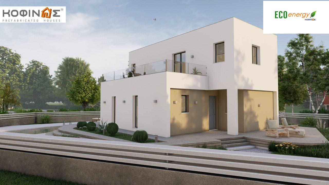 2-story house D-129A, total surface of 129,45 m²,roofed areas 13.39 m²,balconies 32.15 m²3
