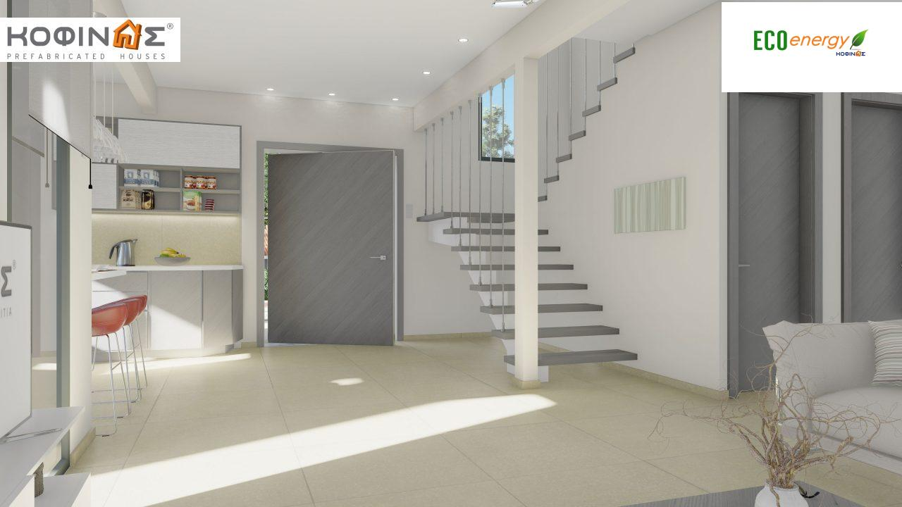 2-story house D-129A, total surface of 129,45 m²,roofed areas 13.39 m²,balconies 32.15 m²6
