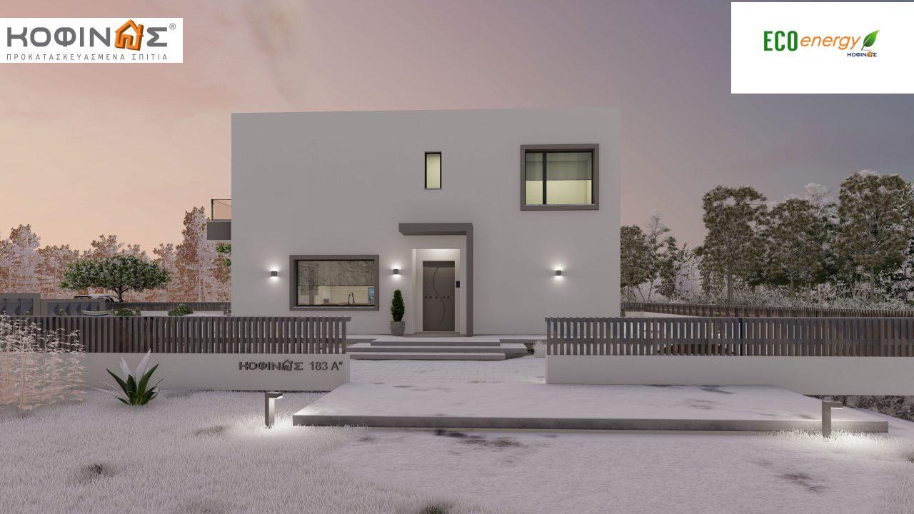 Διώροφη κατοικία D 183B, συνολικής επιφάνειας 183,77 τ.μ.,+Γκαράζ 41,98 m²(=225,75 m²), στεγασμένοι χώροι 59,80 τ.μ., και μπαλκόνια 28.09 τ.μ.10
