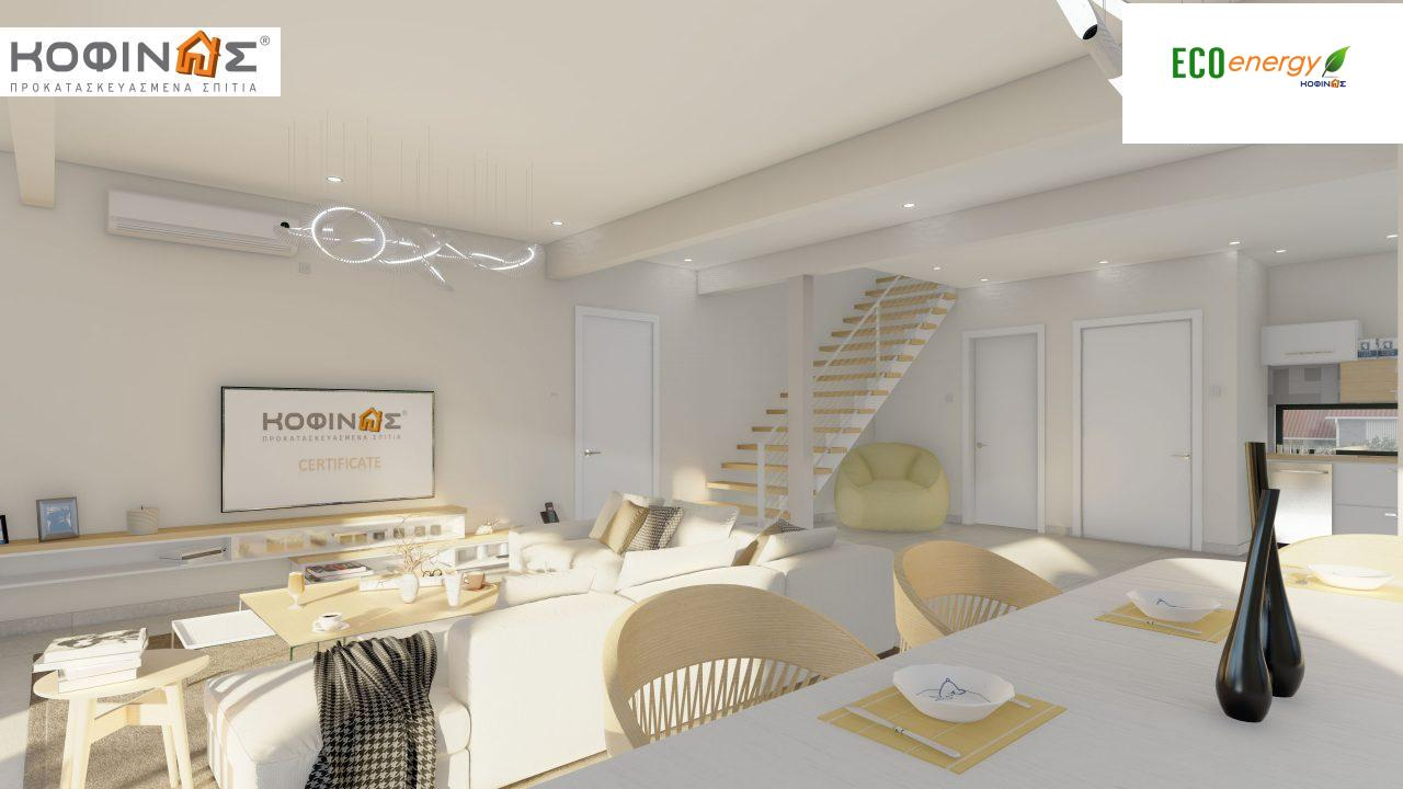 Διώροφη κατοικία D 183B, συνολικής επιφάνειας 183,77 τ.μ.,+Γκαράζ 41,98 m²(=225,75 m²), στεγασμένοι χώροι 59,80 τ.μ., και μπαλκόνια 28.09 τ.μ.13
