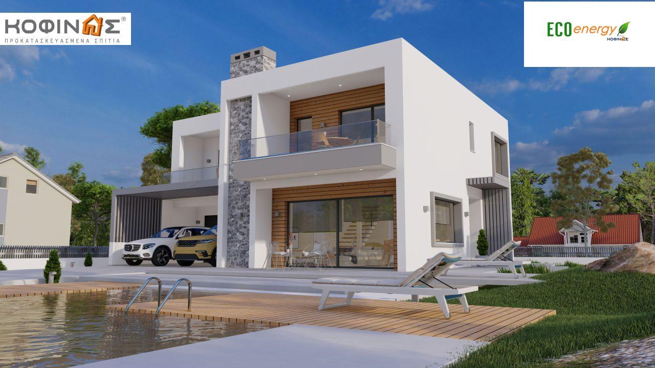 Διώροφη κατοικία D 183B, συνολικής επιφάνειας 183,77 τ.μ.,+Γκαράζ 41,98 m²(=225,75 m²), στεγασμένοι χώροι 59,80 τ.μ., και μπαλκόνια 28.09 τ.μ. featured image