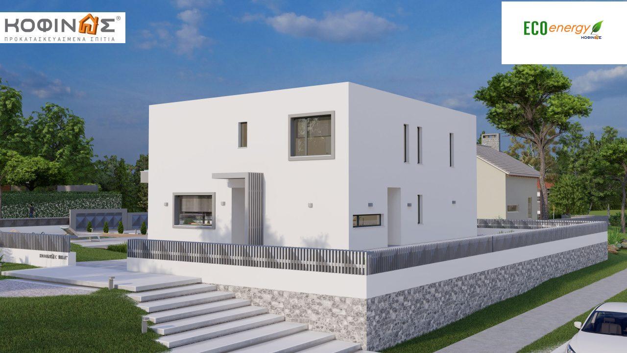 Διώροφη κατοικία D 183B, συνολικής επιφάνειας 183,77 τ.μ.,+Γκαράζ 41,98 m²(=225,75 m²), στεγασμένοι χώροι 59,80 τ.μ., και μπαλκόνια 28.09 τ.μ.6