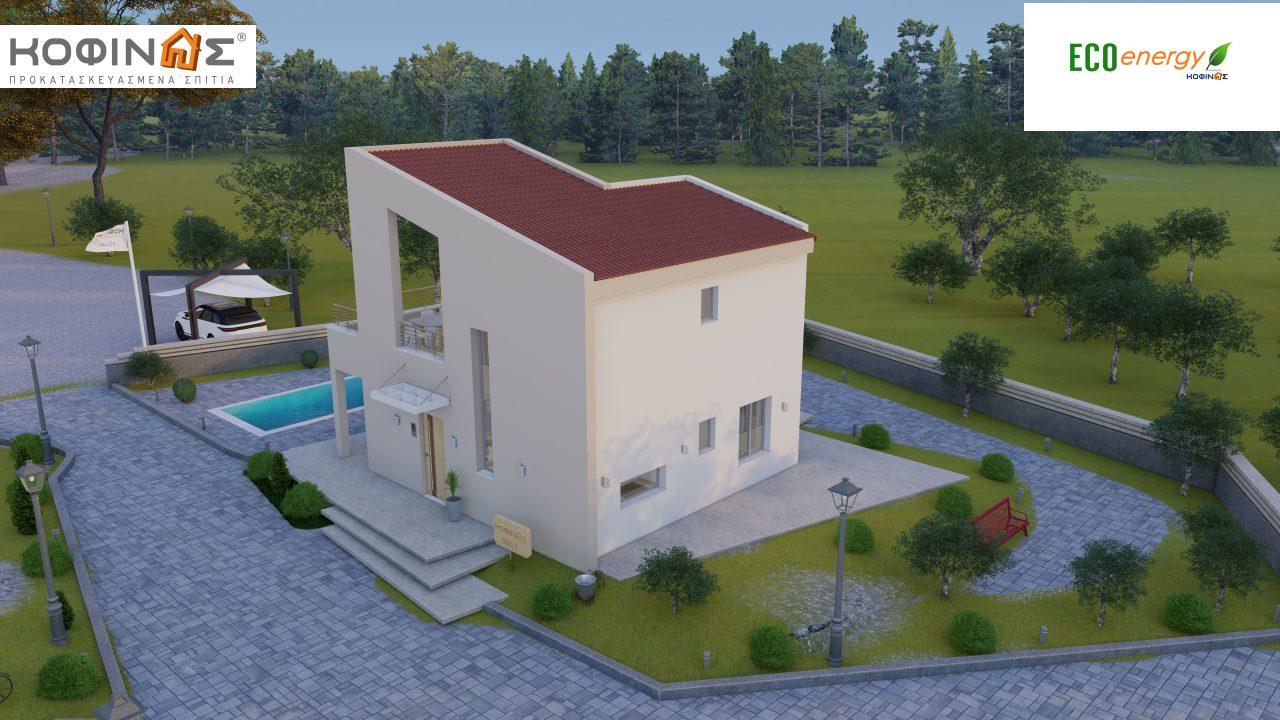 Διώροφη Κατοικία D-90, συνολικής επιφάνειας 90,42 τ.μ., συνολική επιφάνεια στεγασμένων χώρων 25,96 τ.μ., μπαλκόνια 32,54 τ.μ.4