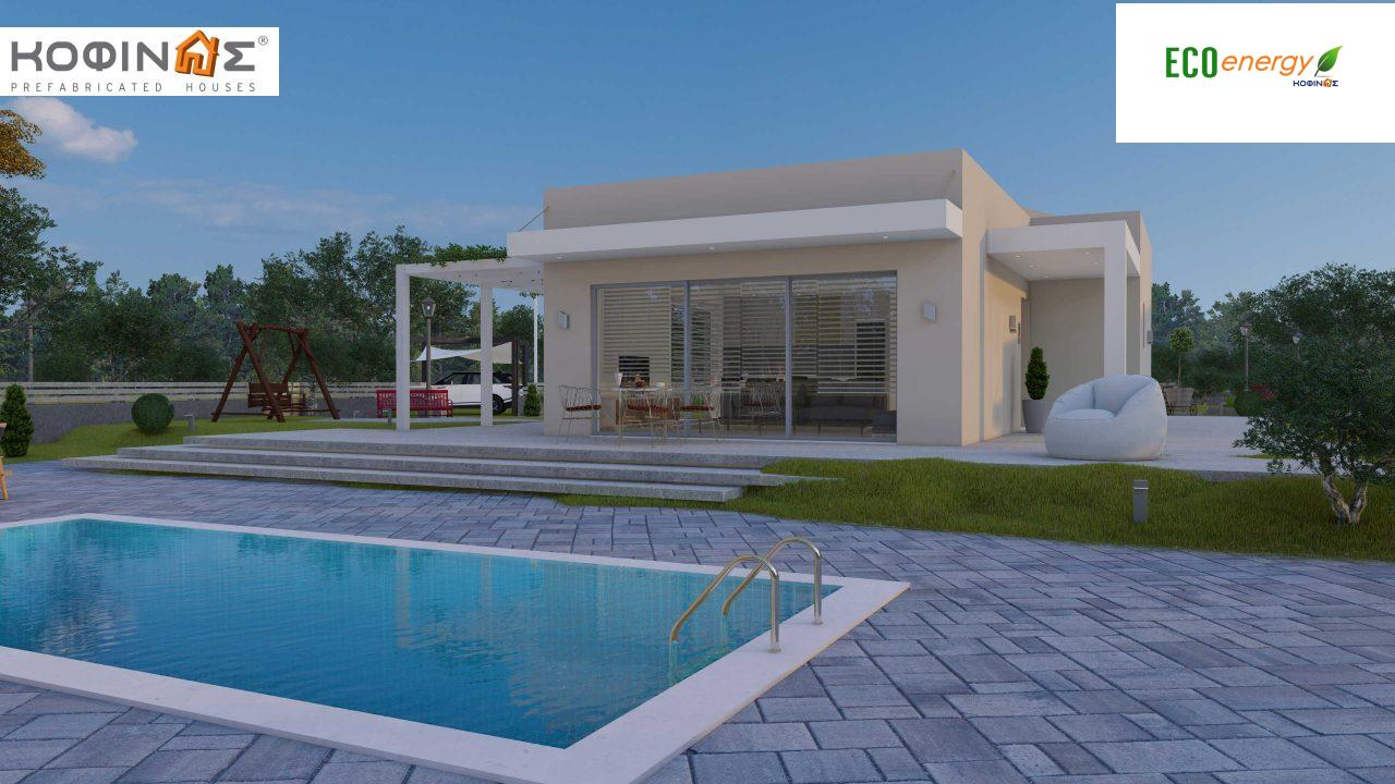 Complex of 2-story + 1 story houses E-243, total surface of (90.42+75.56+77.85)= 243,83 m², roofed areas 88.00 m² , balcony(house Α) 32.54 m²8