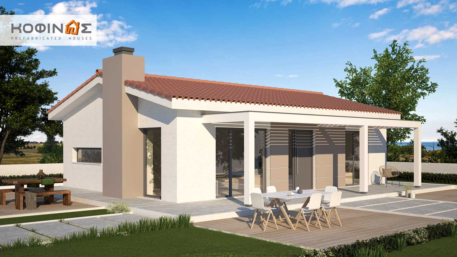 Single story house, KI1-85 (85,80 m²) – Price: 67.000€