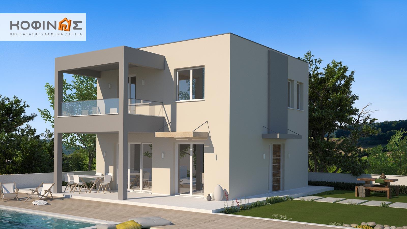 Διώροφη Κατοικία KD1-115, συνολικής επιφάνειας 115,52 τ.μ.