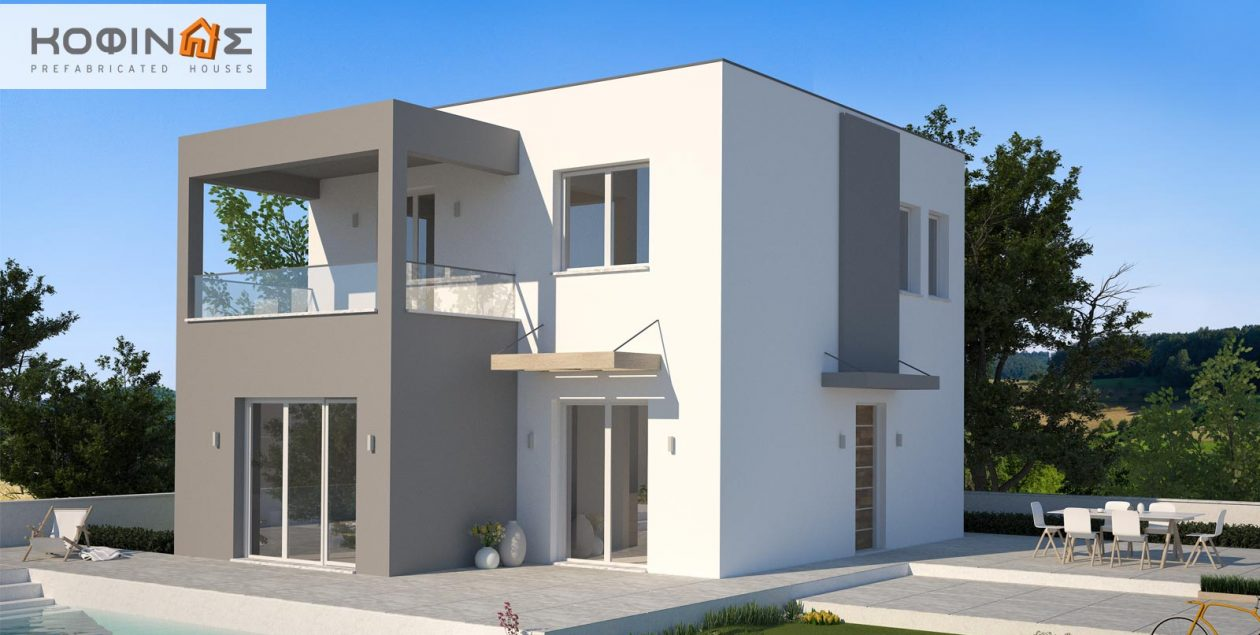 2-story house ΚD1-125, total surface of 125,84 m² featured image