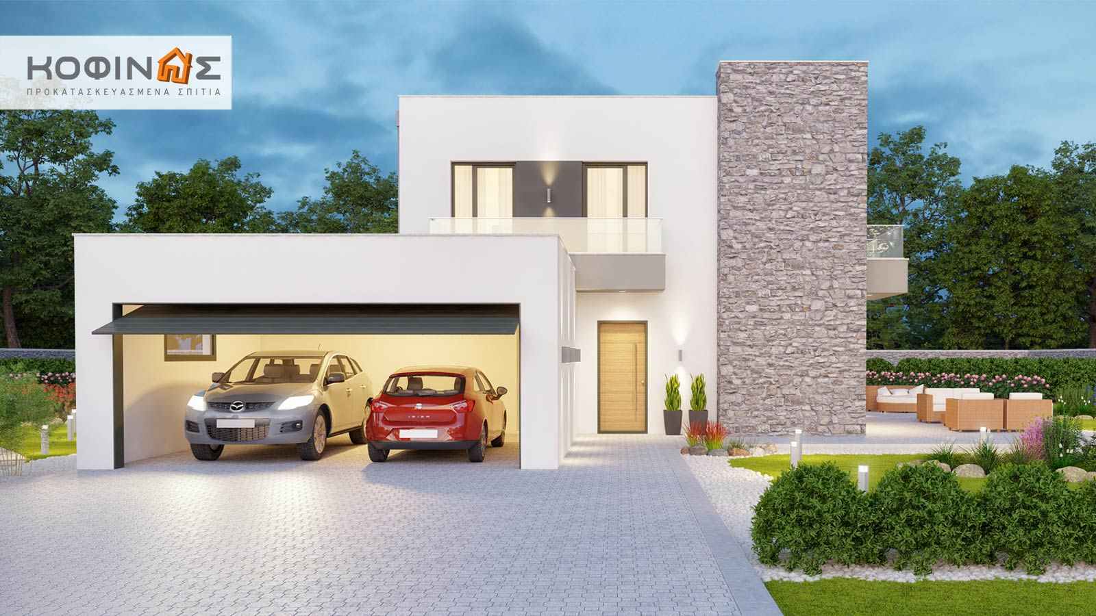 2-story house D-177, total surface of 177,46 m²0