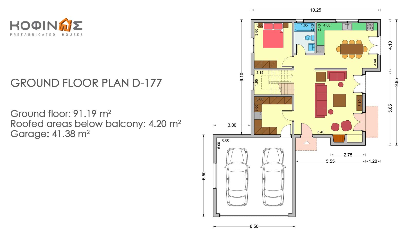2-story house D-177, total surface of 177,46 m²