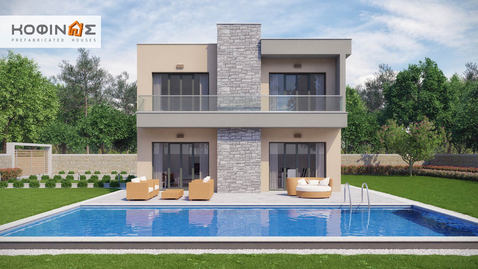 2-story house D-190, total surface of 190,94 m²1