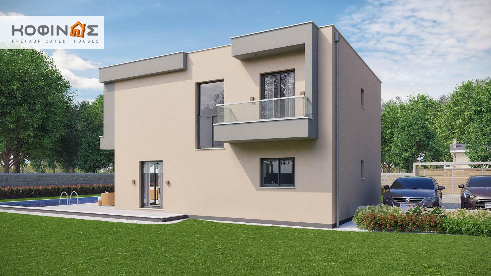 2-story house D-190, total surface of 190,94 m²2