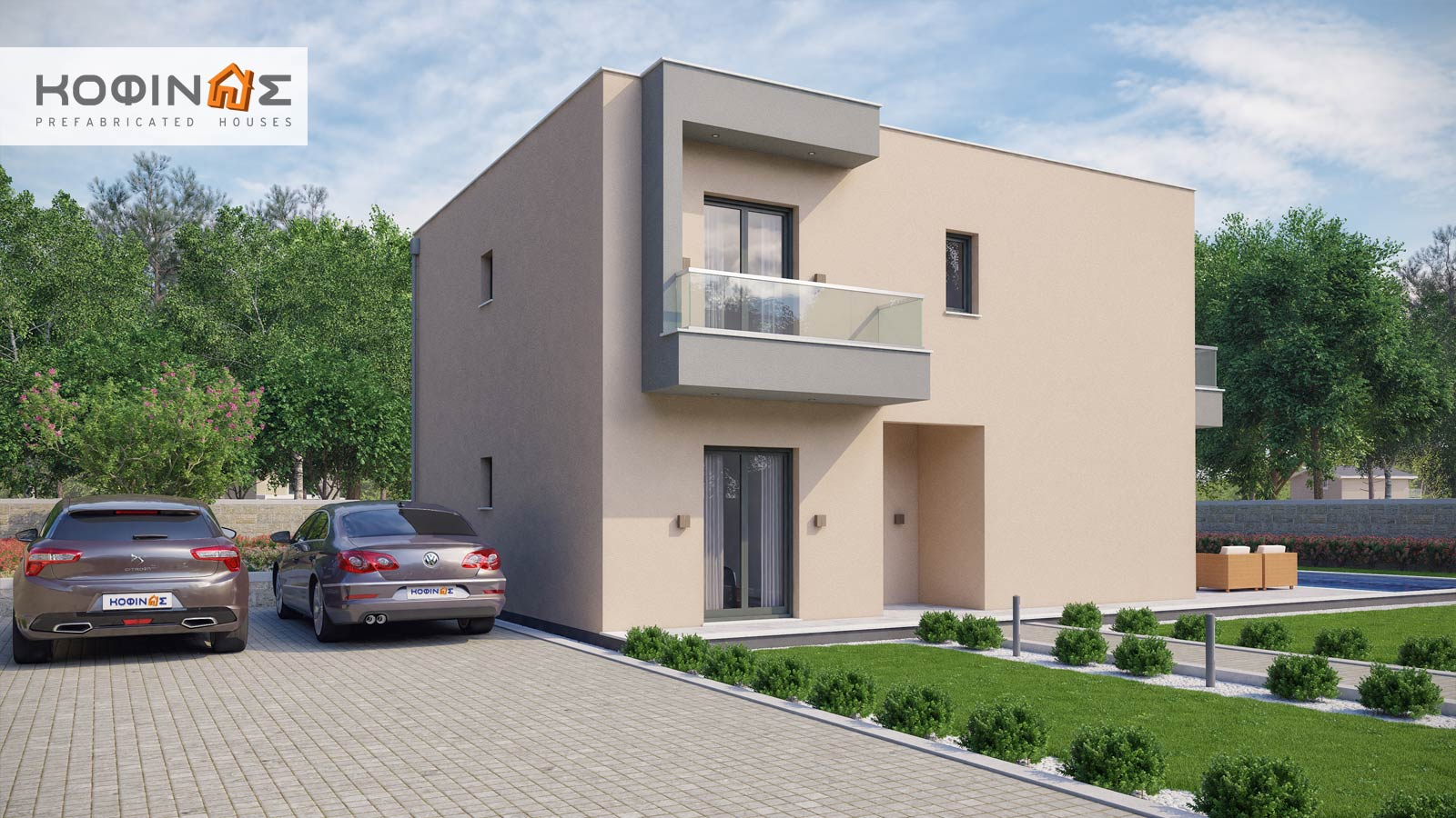 2-story house D-190, total surface of 190,94 m²3