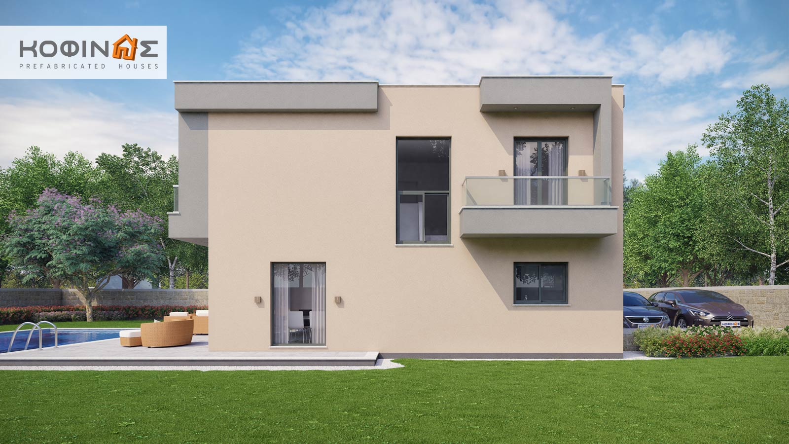 2-story house D-190, total surface of 190,94 m²4