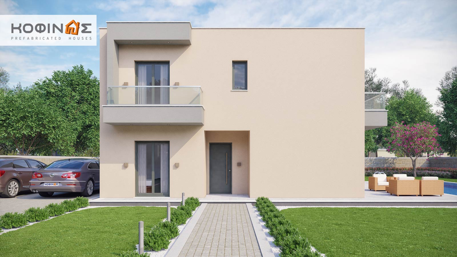 2-story house D-190, total surface of 190,94 m²5