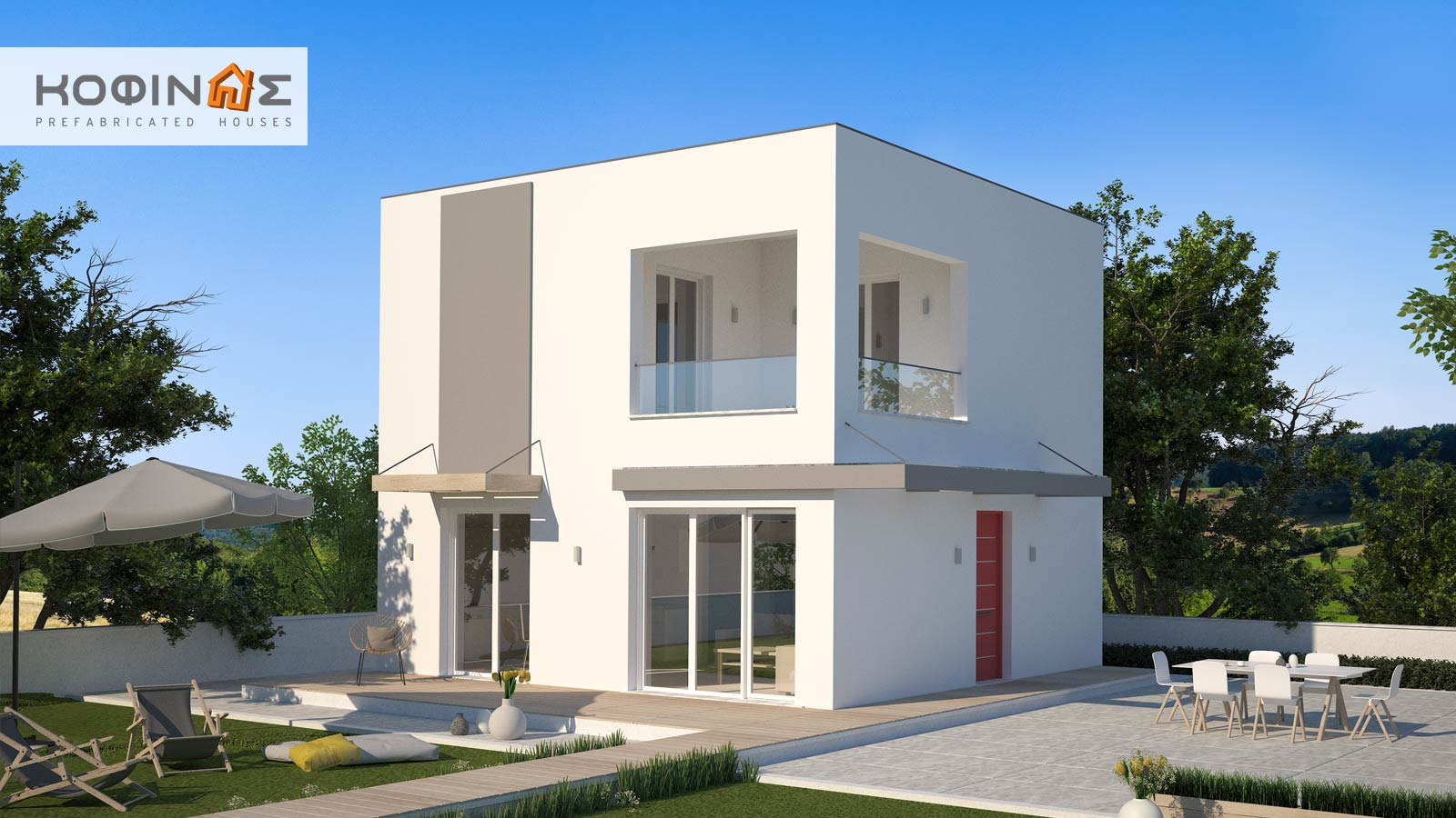 2-story house KD1-95, total surface of 95,70 m²