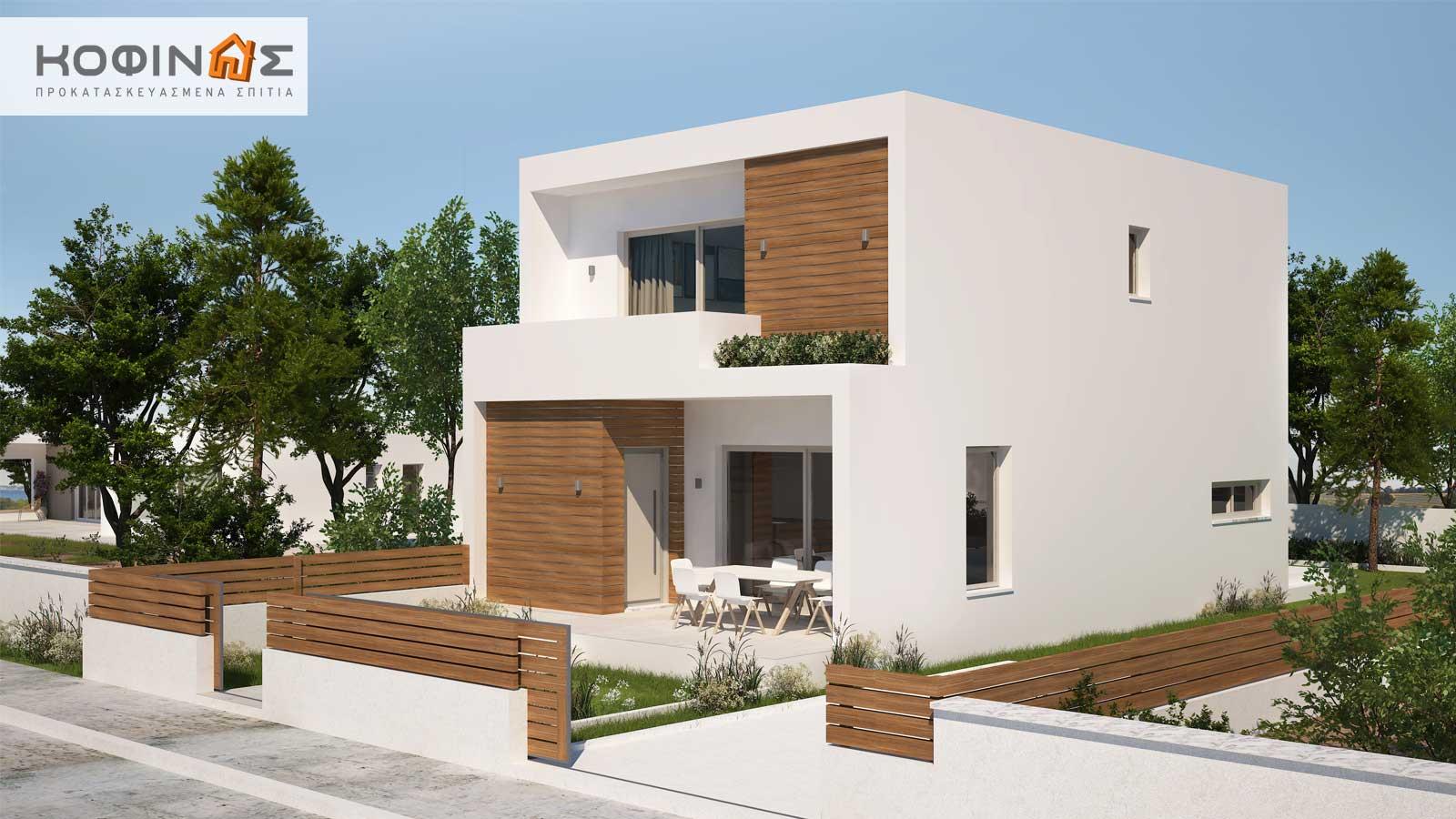 Διώροφη Κατοικία D-139, συνολικής επιφάνειας 139,00 τ.μ.