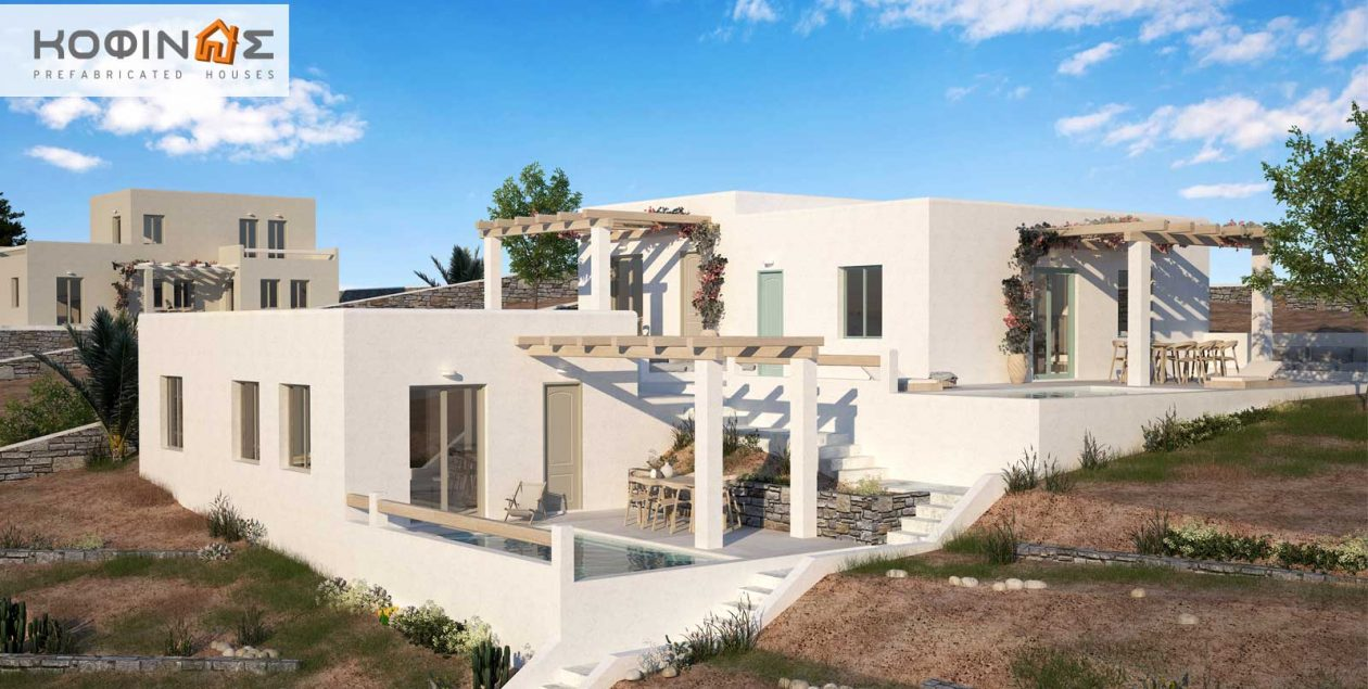 Complex of 1-story houses E-50, total surface of 3 x 50,30 = 150,90 m² featured image